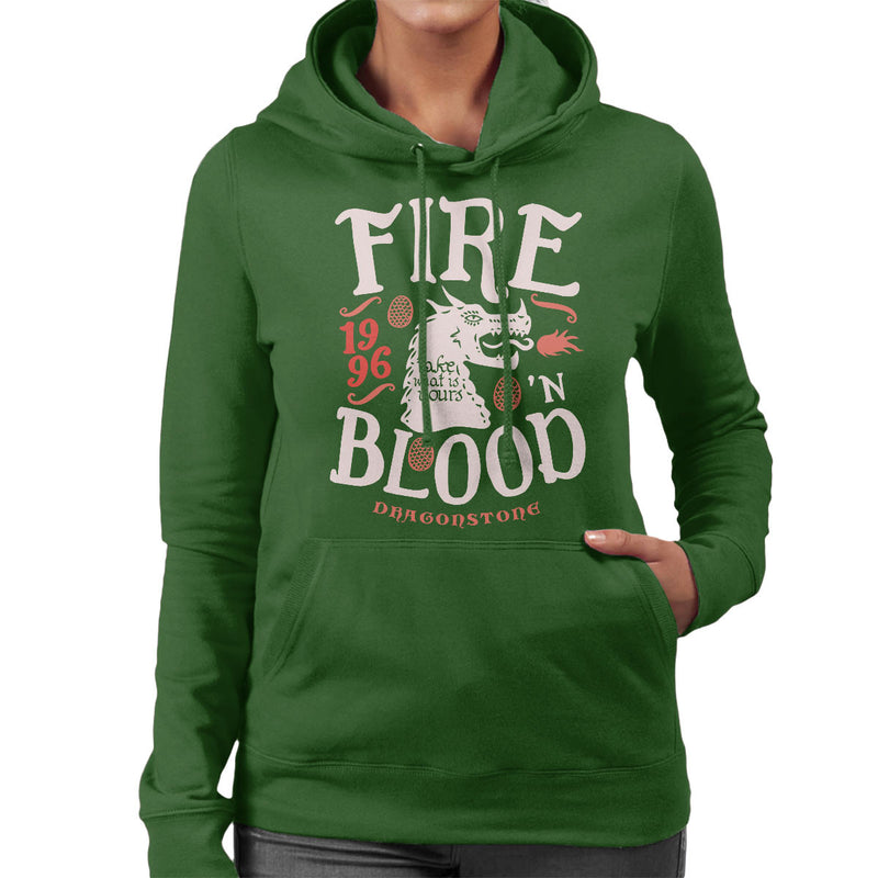 Fire And Blood Dragonstone Targaryen Game Of Thrones Women's Hooded Sweatshirt by Olipop - Cloud City 7