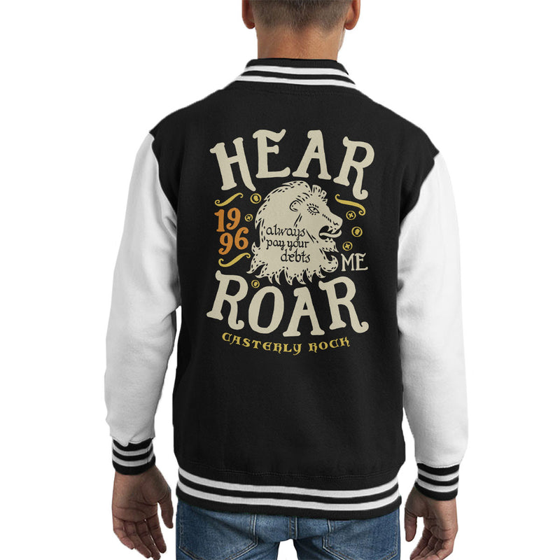 Hear Me Roar Catserly Rock Lannister Game Of Thrones Kid's Varsity Jacket