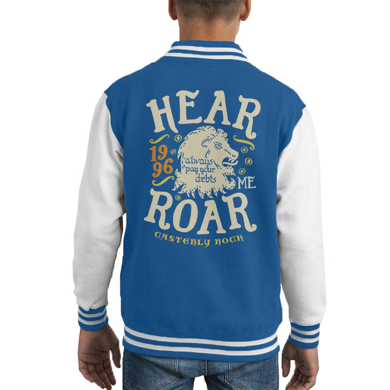 Hear Me Roar Catserly Rock Lannister Game Of Thrones Kid's Varsity Jacket by Olipop - Cloud City 7
