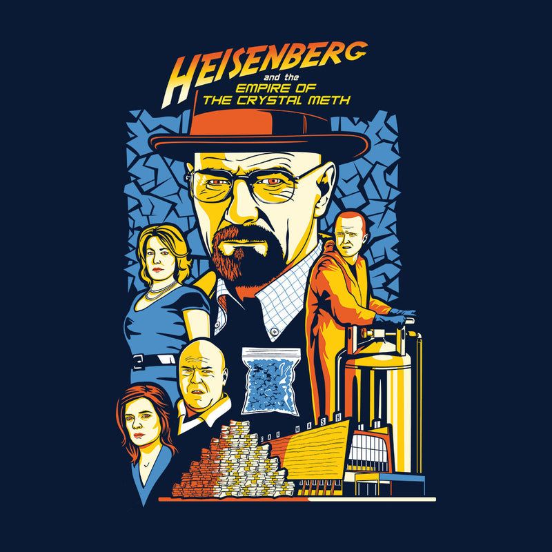 Heisenberg And The Empire Of The Crystal Meth Men's Baseball Long Sleeved T-Shirt by Olipop - Cloud City 7