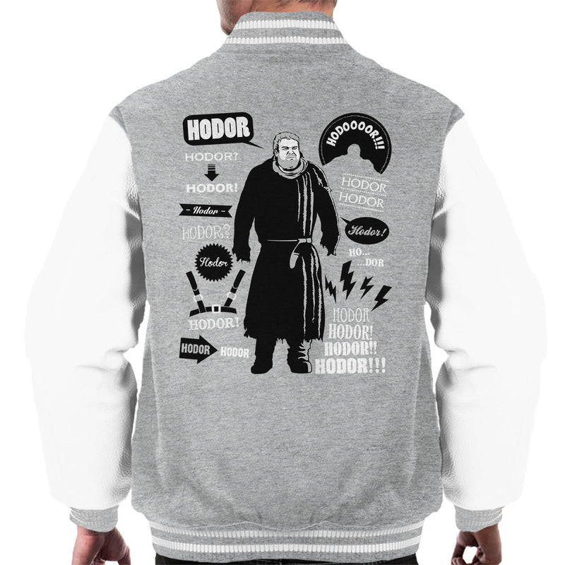 Hodor Quotes Game Of Thrones Men's Varsity Jacket by Olipop - Cloud City 7