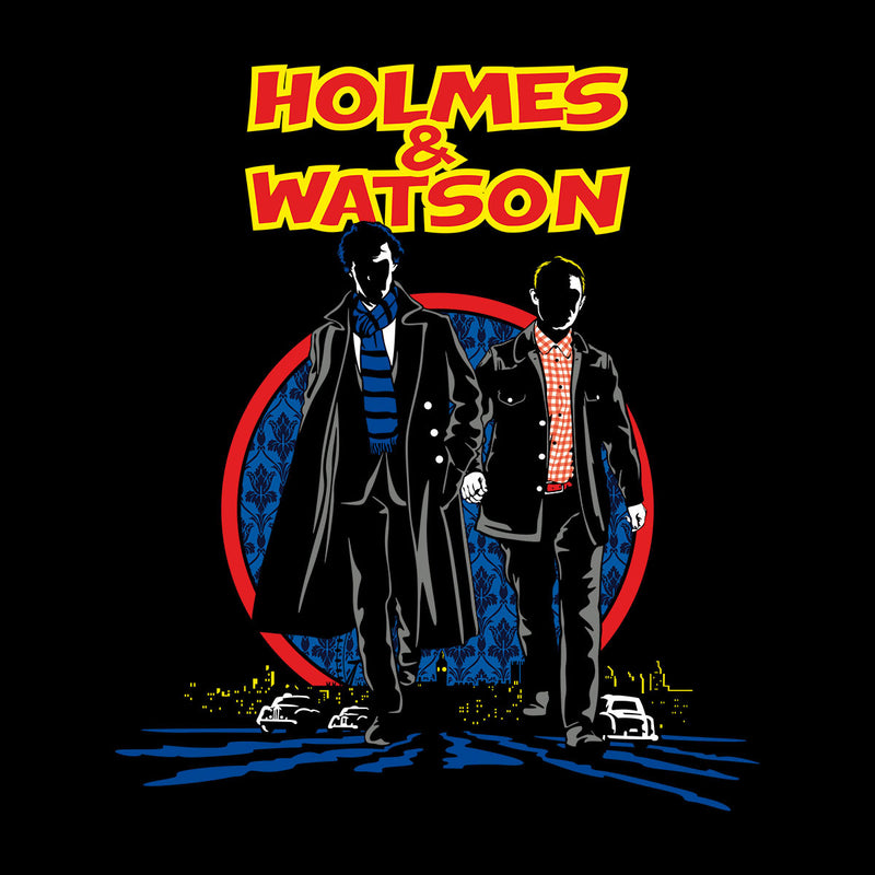 Sherlock Holmes And Watson Kid's Varsity Jacket by Olipop - Cloud City 7