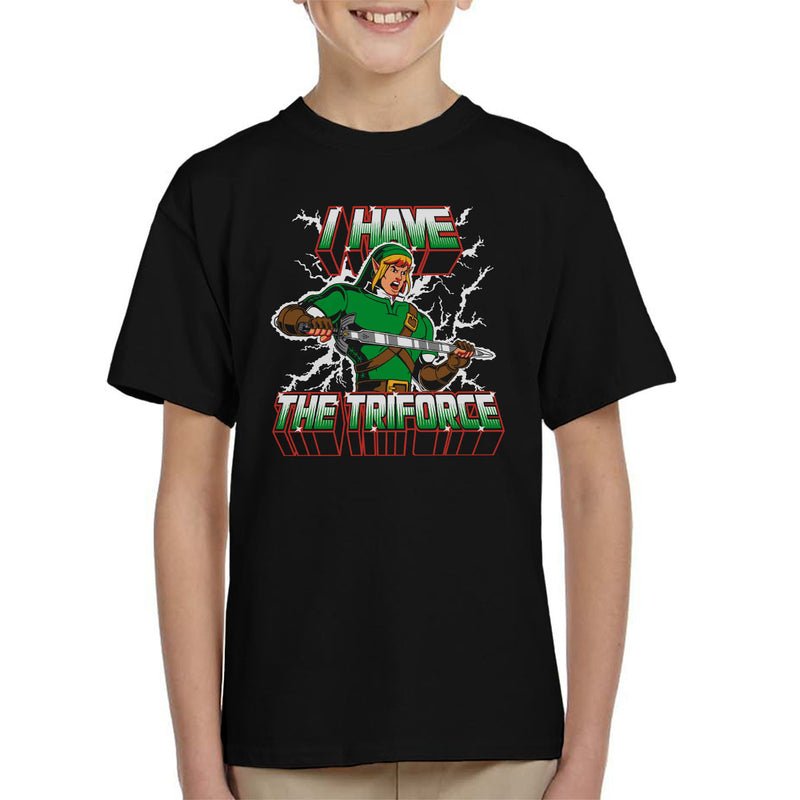 I Have The Triforce Link Zelda Masters Of The Universe Kid's T-Shirt by Olipop - Cloud City 7