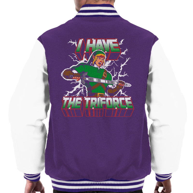 I Have The Triforce Link Zelda Masters Of The Universe Men's Varsity Jacket by Olipop - Cloud City 7