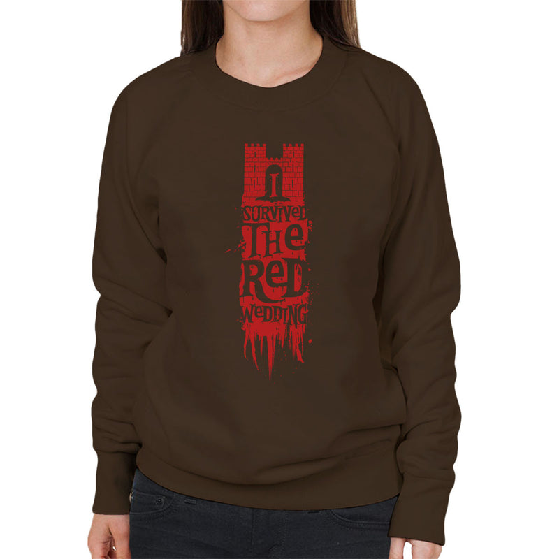 I Survived The Red Wedding Game Of Thrones Women's Sweatshirt by Olipop - Cloud City 7
