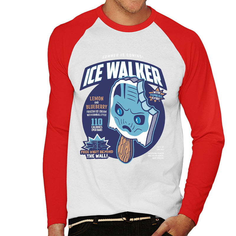 Ice Walker Game Of Thrones Men's Baseball Long Sleeved T-Shirt by Olipop - Cloud City 7