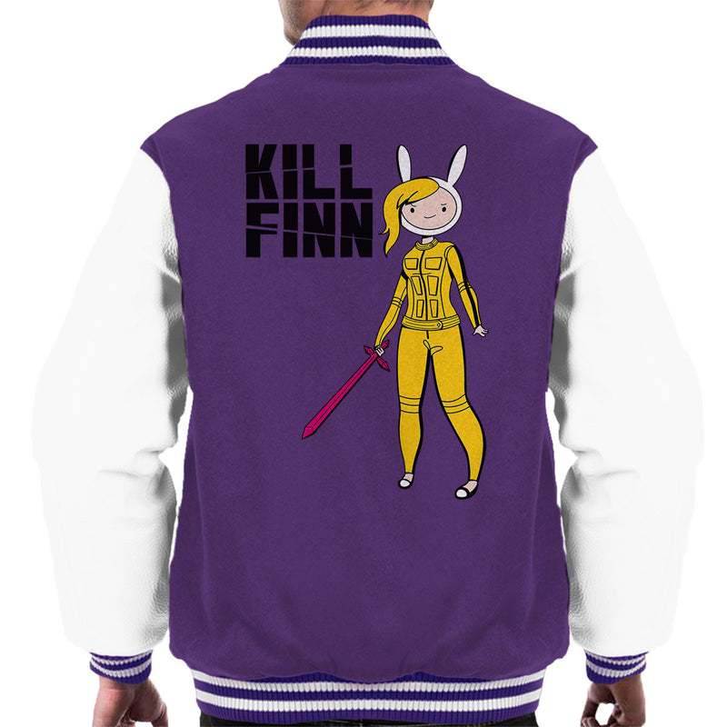 Kill Finn Adventure Time Kill Bill Men's Varsity Jacket by Olipop - Cloud City 7