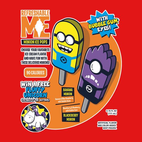 Refreshable Minion Ice Pops