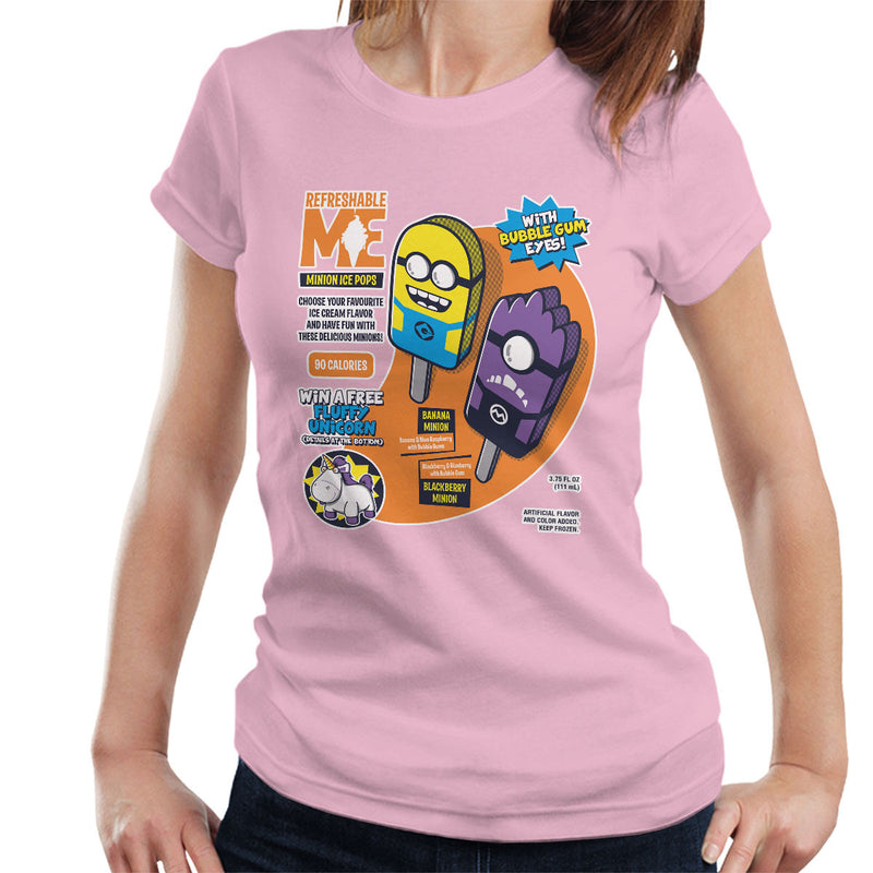 Refreshable Minion Ice Pops Women's T-Shirt by Olipop - Cloud City 7
