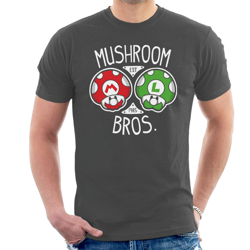 Mushroom Bros Super Mario Men's T-Shirt by Olipop - Cloud City 7