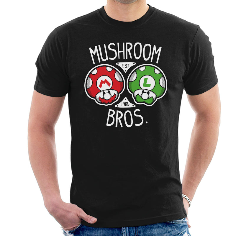 Mushroom Bros Super Mario Men's T-Shirt