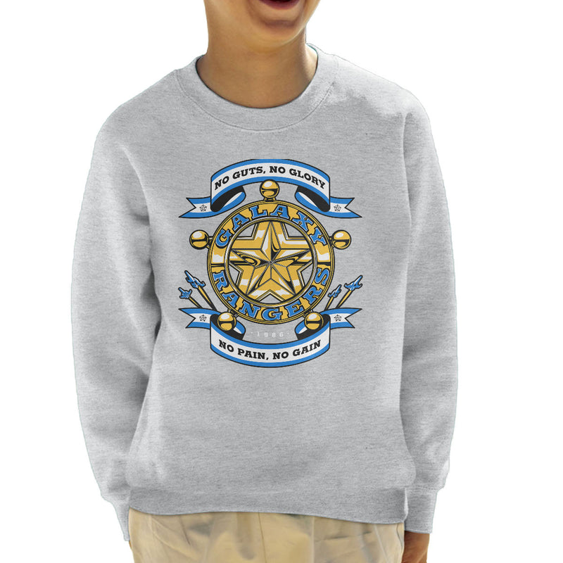 No Guts No Glory The Adventures of the Galaxy Rangers Kid's Sweatshirt by Olipop - Cloud City 7