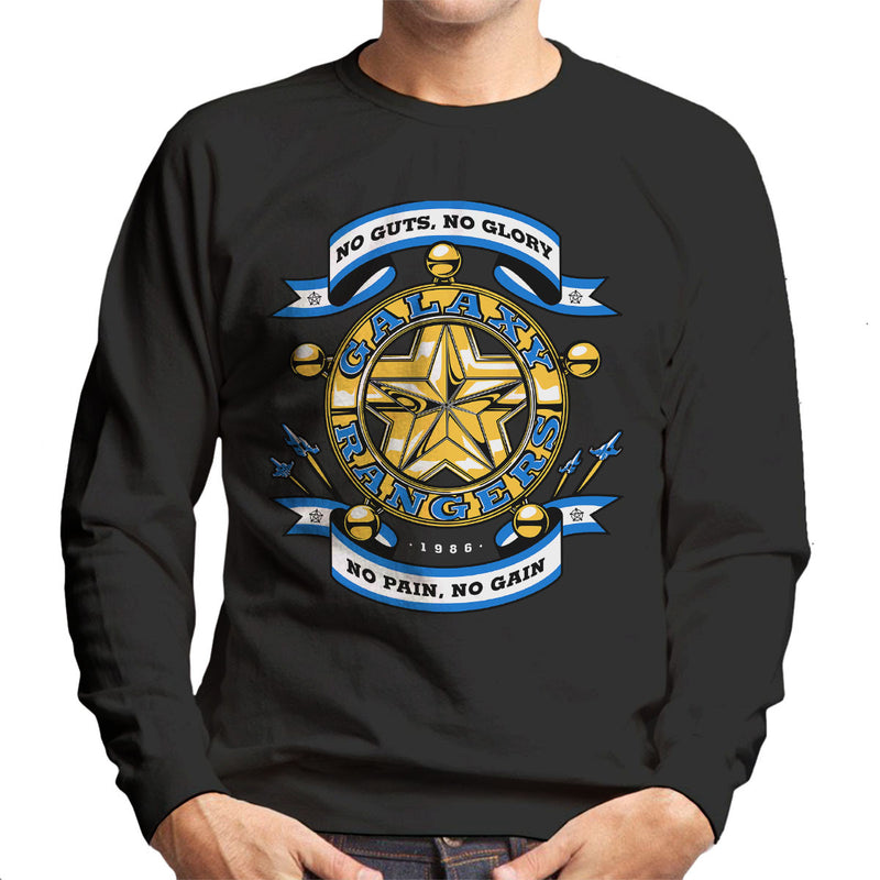 No Guts No Glory The Adventures of the Galaxy Rangers Men's Sweatshirt