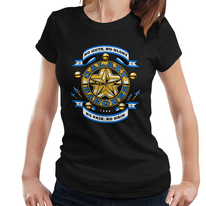 No Guts No Glory The Adventures of the Galaxy Rangers Women's T-Shirt