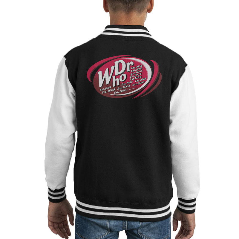 Dr WHO Dr Pepper Doctor Who BBC Kid's Varsity Jacket