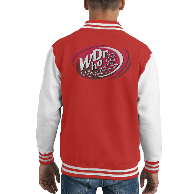 Dr WHO Dr Pepper Doctor Who BBC Kid's Varsity Jacket by MacXi - Cloud City 7