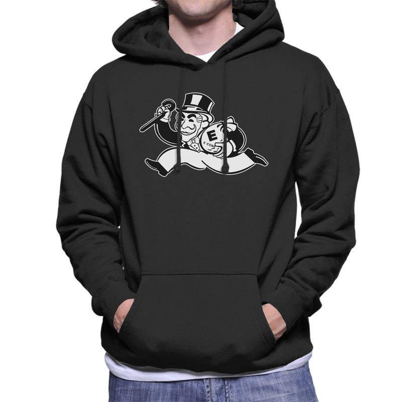 Mr Robot Fsociety Black And White Men's Hooded Sweatshirt