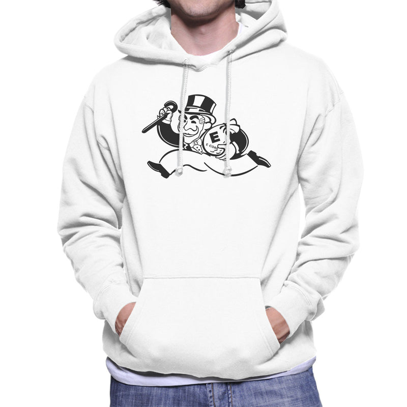 Mr Robot Fsociety Black And White Men's Hooded Sweatshirt by Samiel Art - Cloud City 7