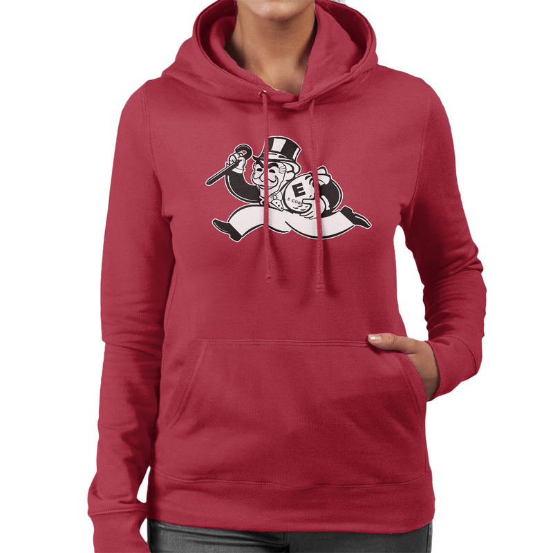 Mr Robot Fsociety Black And White Women's Hooded Sweatshirt by Samiel Art - Cloud City 7