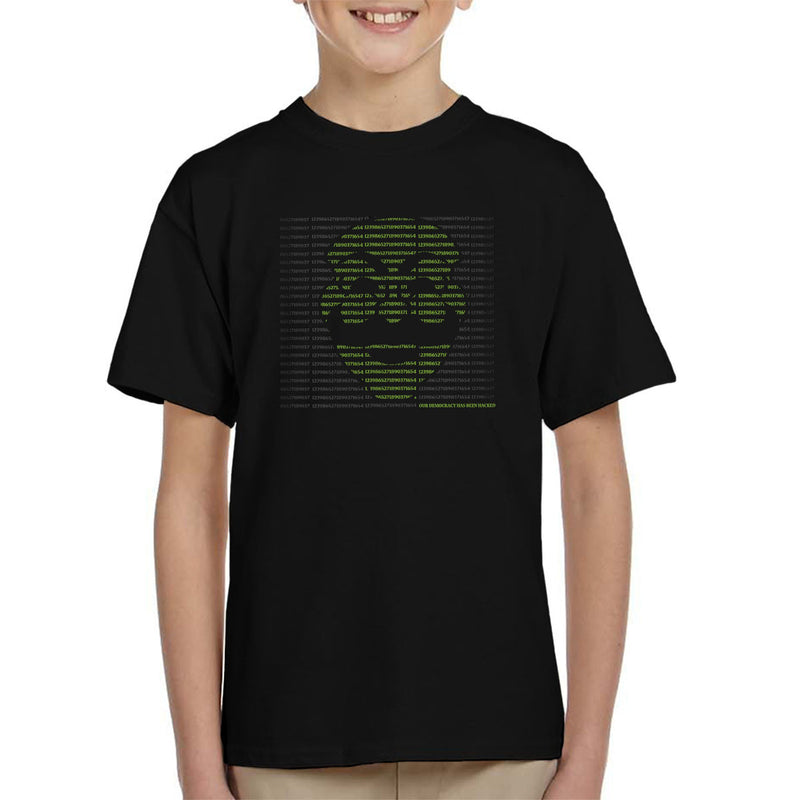 Mr Robot Hack The World Kid's T-Shirt