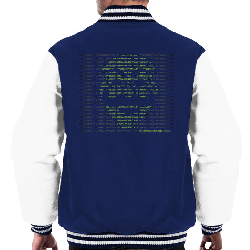 Mr Robot Hack The World Men's Varsity Jacket by Samiel Art - Cloud City 7