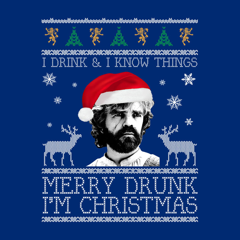 I Drink And I Know Things Tyrion Game Of Thrones Christmas Knit Pattern Kid's T-Shirt by Spudhead - Cloud City 7