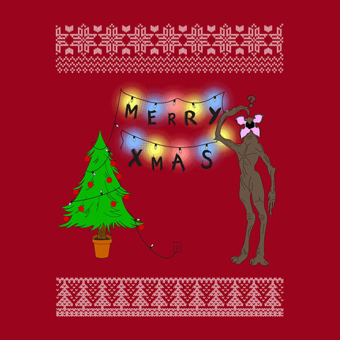 Stranger Things Demogorgon Christmas Knit Pattern