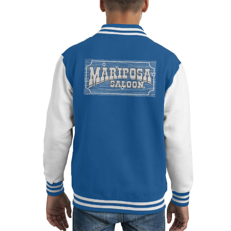 Mariposa Saloon Sweetwater Westworld White Kid's Varsity Jacket by Bevatron - Cloud City 7
