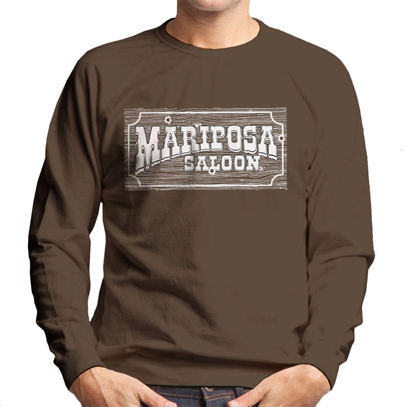 Mariposa Saloon Sweetwater Westworld White Men's Sweatshirt
