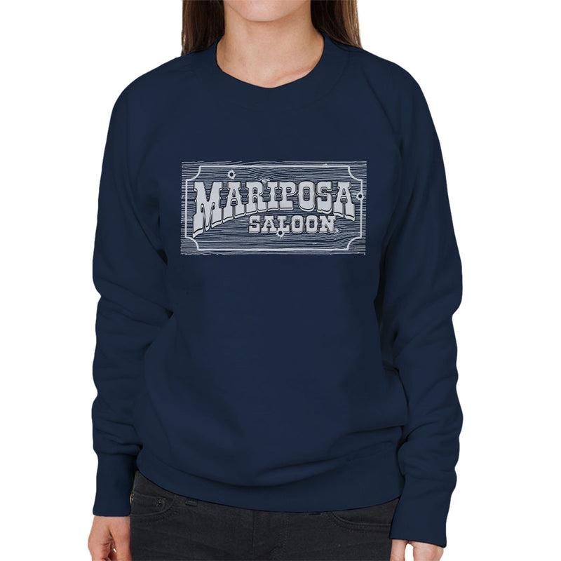 Mariposa Saloon Sweetwater Westworld White Women's Sweatshirt by Bevatron - Cloud City 7