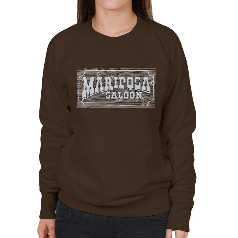 Mariposa Saloon Sweetwater Westworld White Women's Sweatshirt