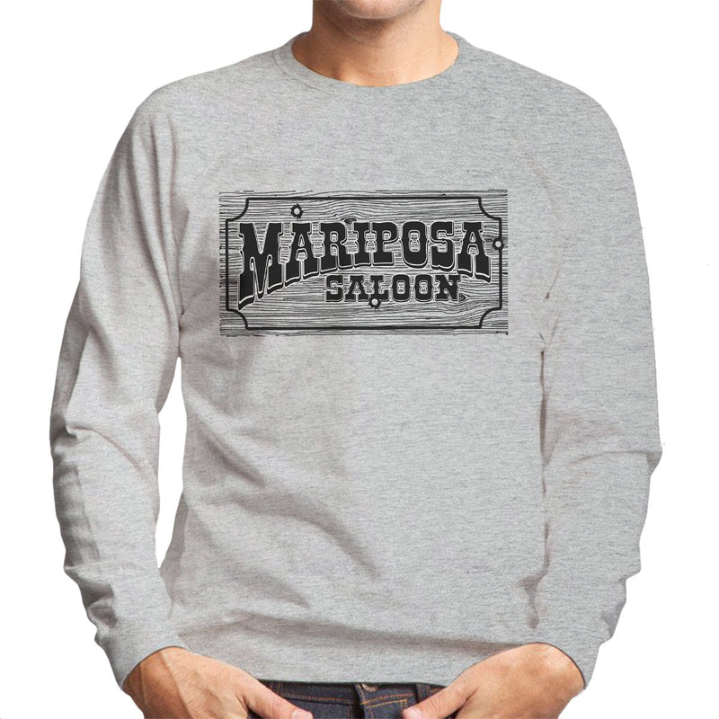 Mariposa Saloon Sweetwater Westworld Black Men's Sweatshirt