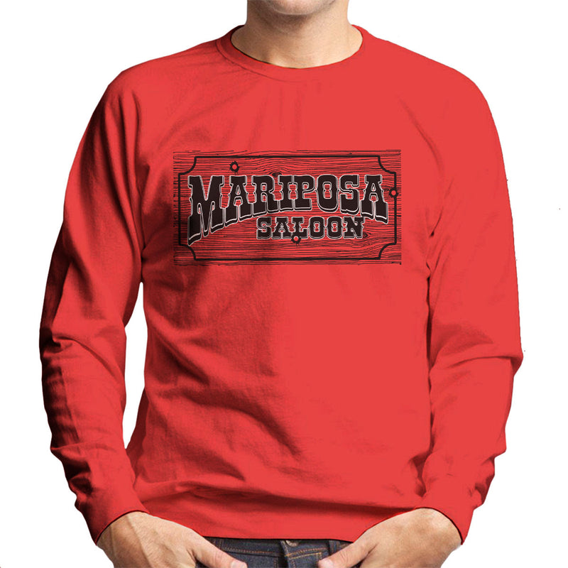 Mariposa Saloon Sweetwater Westworld Black Men's Sweatshirt by Bevatron - Cloud City 7