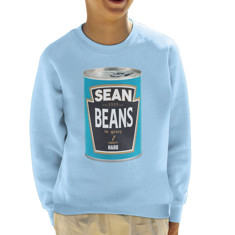 Sean Beans In Gravy 1 Variety Hard Kid's Sweatshirt by Bevatron - Cloud City 7