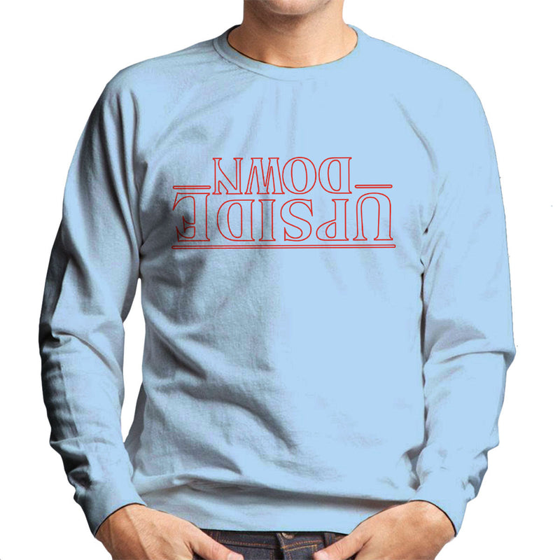 Stranger Things Upside Down Text Men's Sweatshirt by Bevatron - Cloud City 7