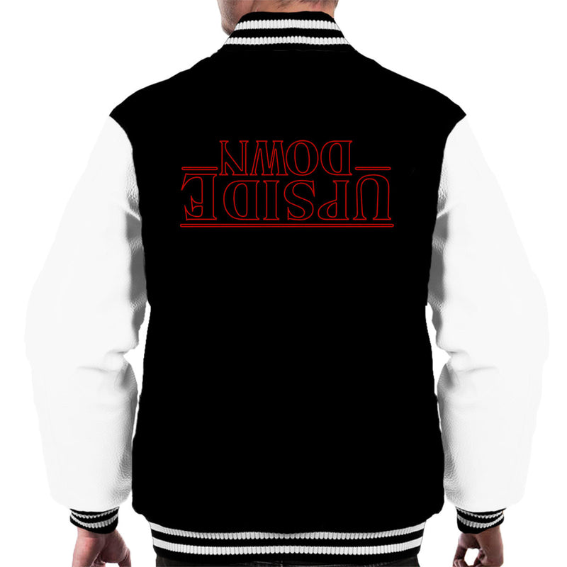 Stranger Things Upside Down Text Men's Varsity Jacket