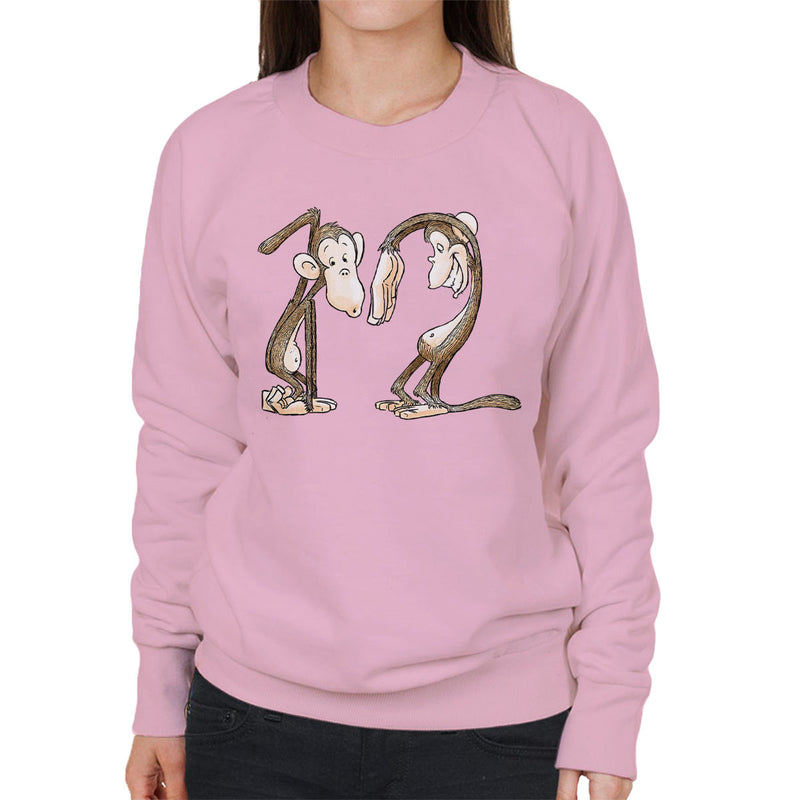12 Monkeys Monkey Shapes Women's Sweatshirt by Bleee - Cloud City 7