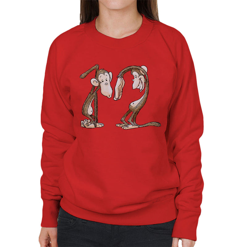 12 Monkeys Monkey Shapes Women's Sweatshirt