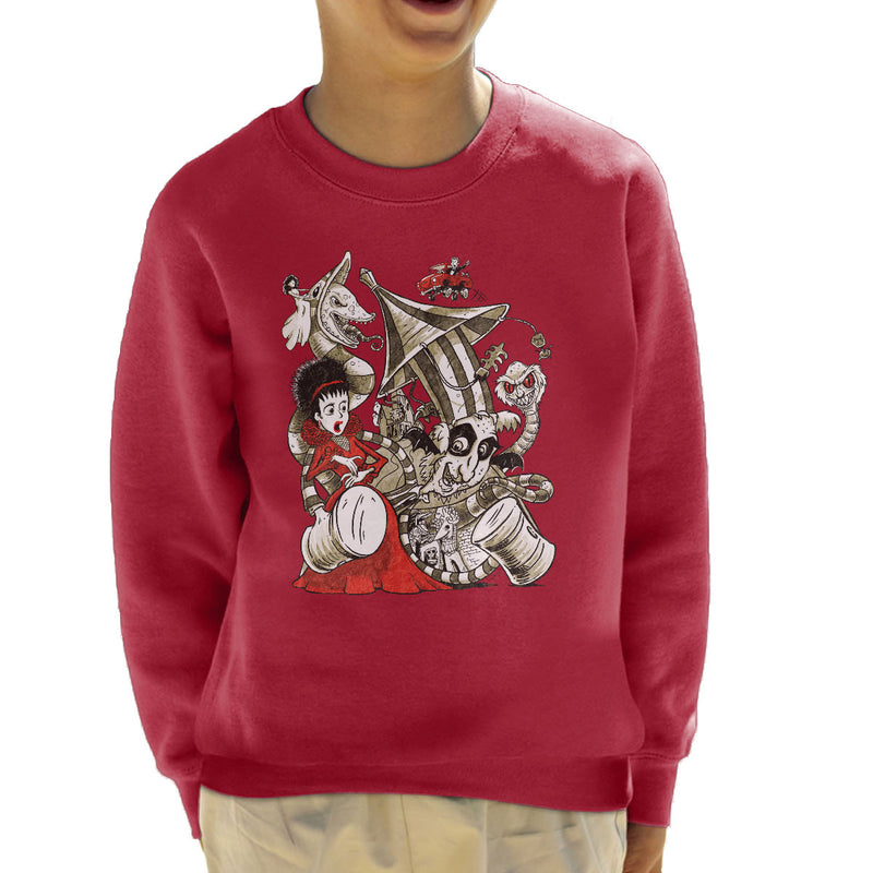 Beetle Juice Betelgeuse Kid's Sweatshirt by Bleee - Cloud City 7
