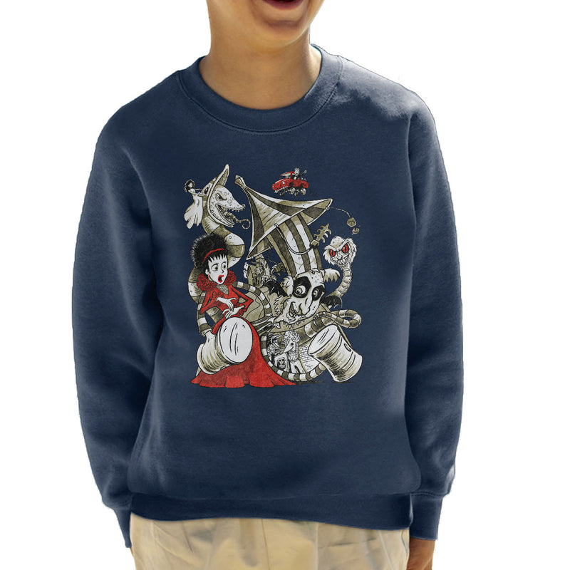 Beetle Juice Betelgeuse Kid's Sweatshirt