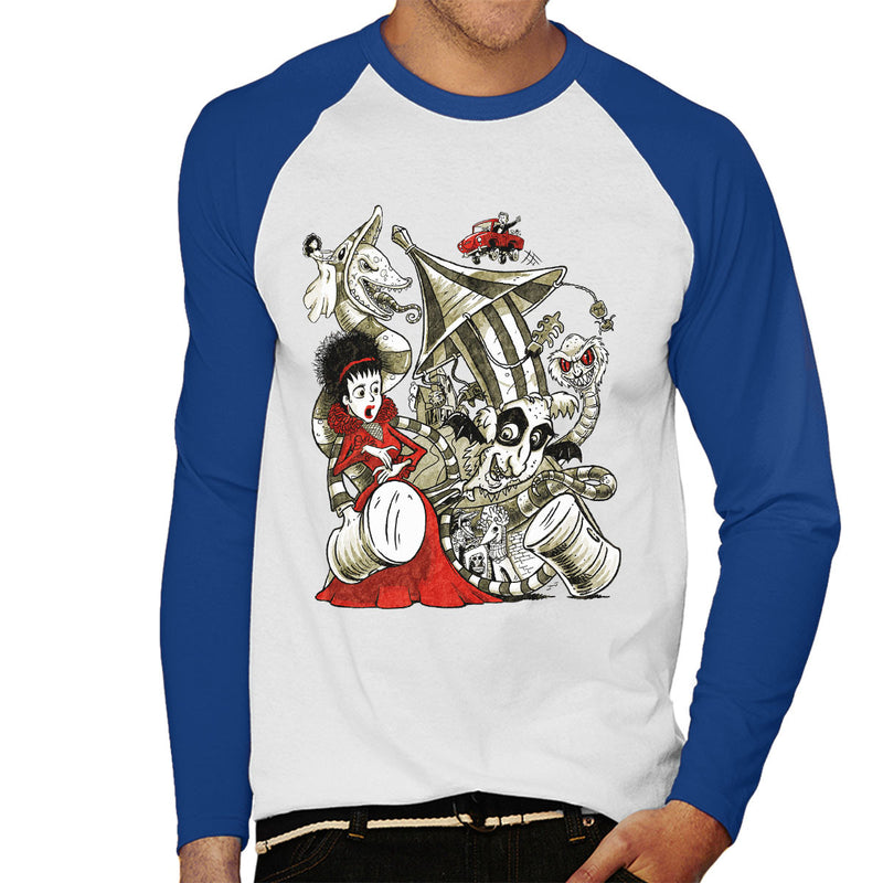 Beetle Juice Betelgeuse Men's Baseball Long Sleeved T-Shirt by Bleee - Cloud City 7