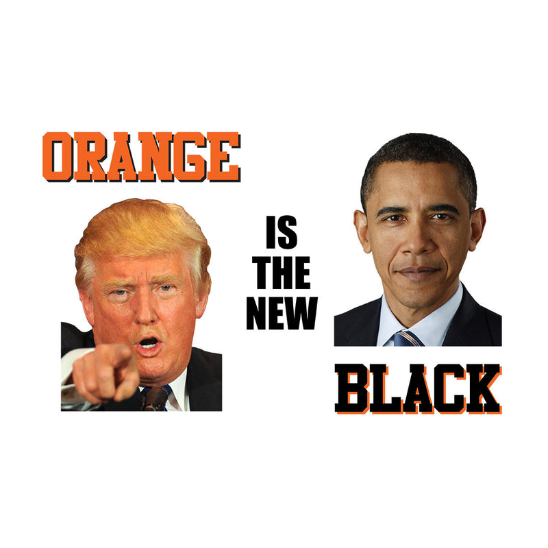 Orange Is The New Black Trump Obama President Men's Sweatshirt by Pheasant Omelette - Cloud City 7