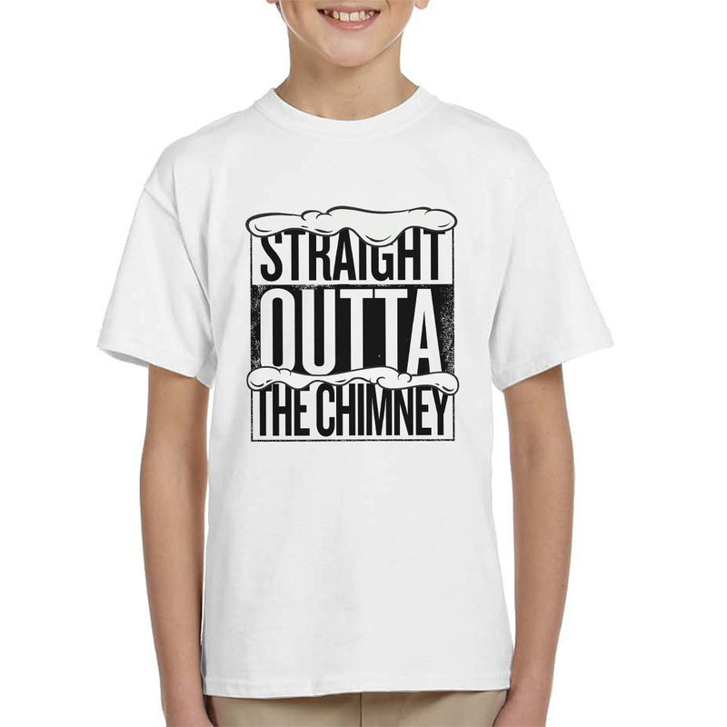 Straight Outta The Chimney Christmas Kid's T-Shirt