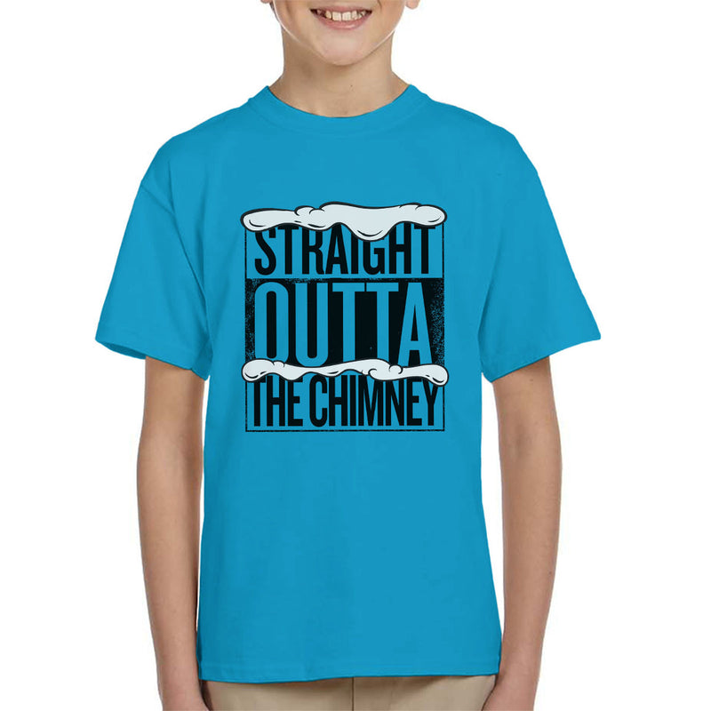 Straight Outta The Chimney Christmas Kid's T-Shirt by Spudhead - Cloud City 7