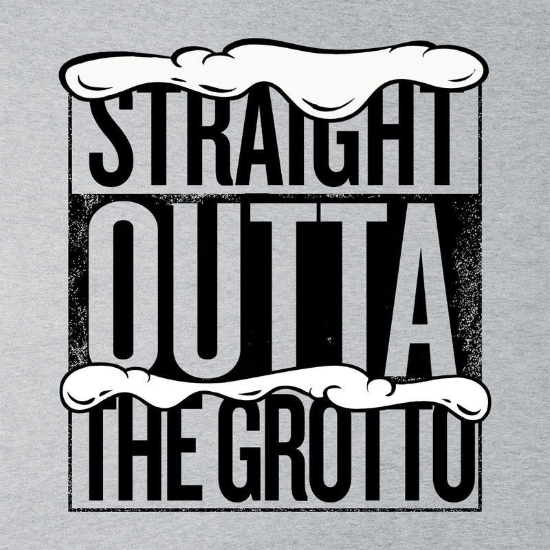 Straight Outta The Grotto Christmas Men's Baseball Long Sleeved T-Shirt by Spudhead - Cloud City 7
