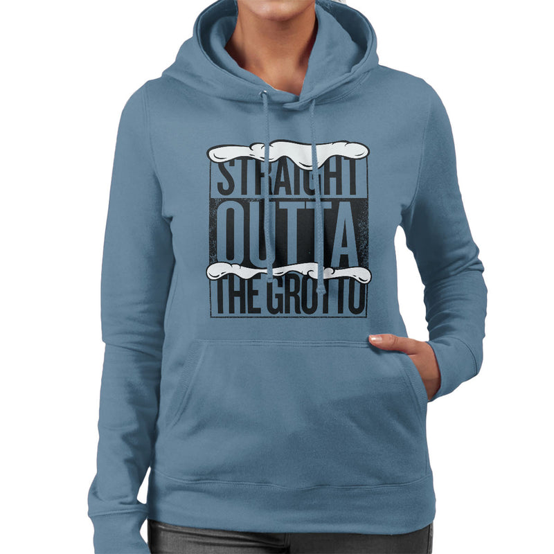 Straight Outta The Grotto Christmas Women's Hooded Sweatshirt by Spudhead - Cloud City 7