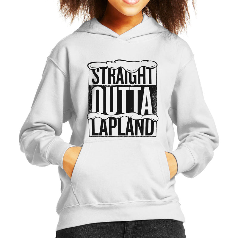 Straight Outta Lapland Christmas Kid's Hooded Sweatshirt
