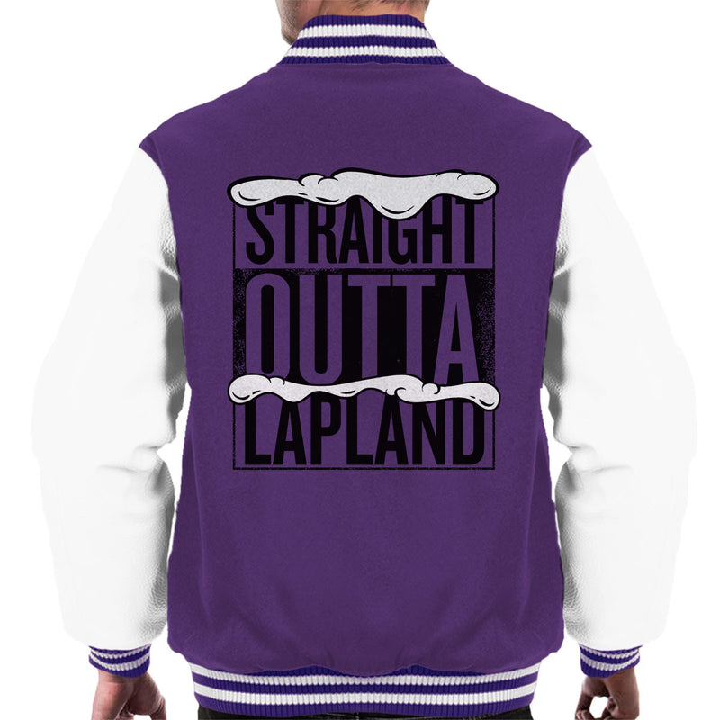 Straight Outta Lapland Christmas Men's Varsity Jacket by Spudhead - Cloud City 7
