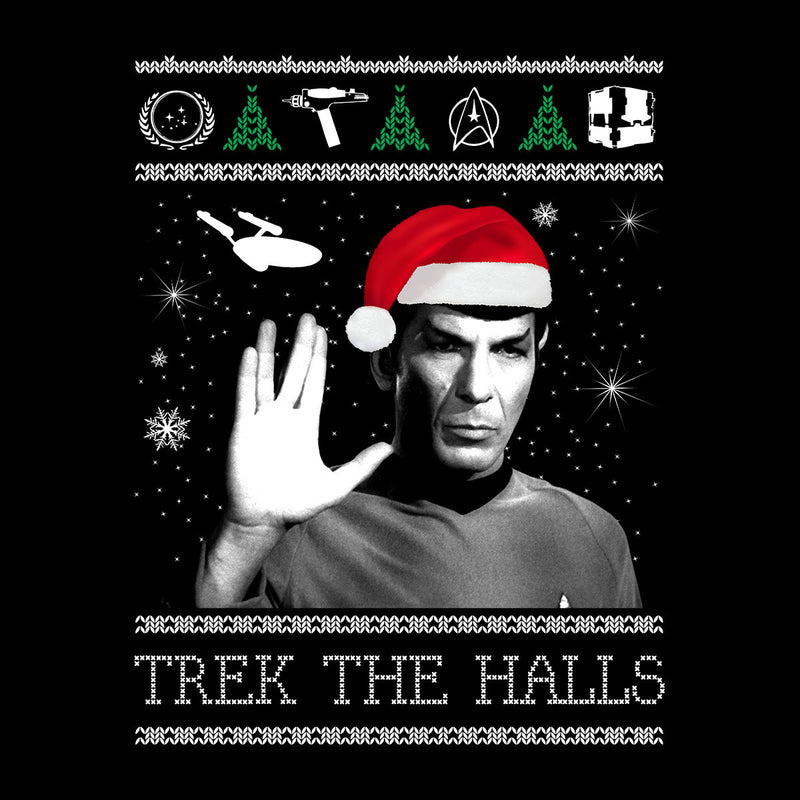Star Trek The Halls Spock Christmas Men's Sweatshirt by Spudhead - Cloud City 7