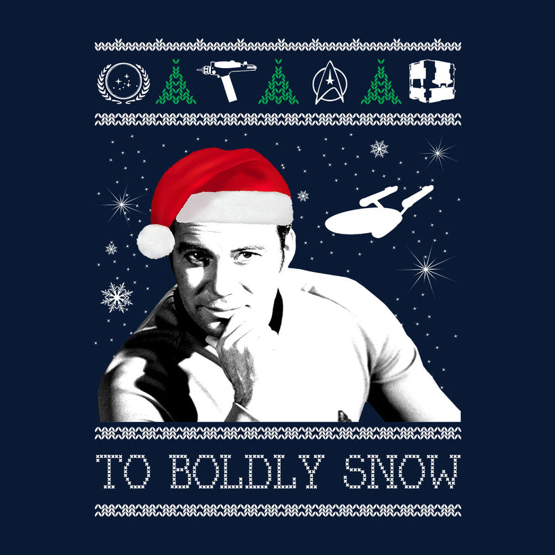 Star Trek To Boldly Snow Kirk Christmas Men's Vest by Spudhead - Cloud City 7